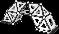 Geomag Black&White,  elegantní nová řada stavebnic.