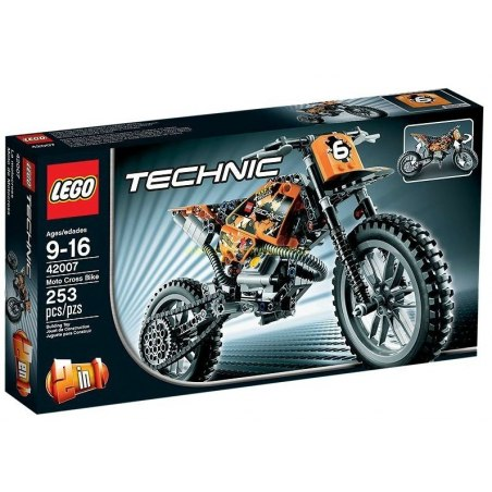 LEGO TECHNIC - Motokrosová motorka 42007