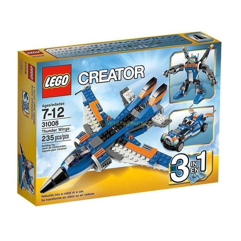 LEGO CREATOR - Burácející letoun 31008