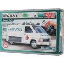 Model Monti System MS 06 Ambulance v měřítku 1:35 je na úrovni BASIC. To znamená, že má malý počet dílů a je vhodný pro děti už od 6 let.