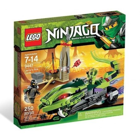 LEGO NINJAGO - Lasha a motorka s kusadly 9447