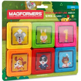 Magformers - Kartičky zvířátka, 6 ks