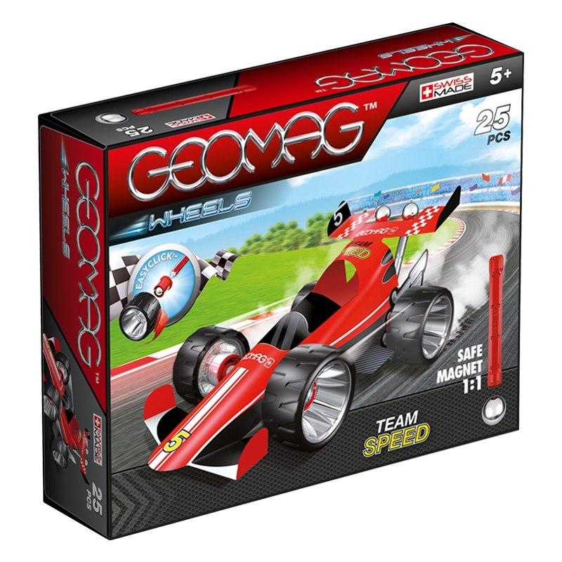 Geomag Wheels 710 červená
