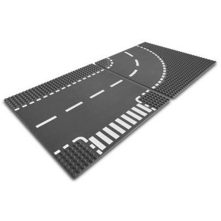 Lego - zatáčka a křižovatka ve tvaru T, 7281