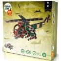 Stavebnice Seva ARMY 2obsahuje 623 dílků, ze kterých si můžete sestavit vojenskou techniku, např. vrtulník či tank. Všechny díly jsou ve vojenských barvách.