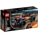 Zažij výkon a zrychlení této odolné Červené buginy od LEGO Technic.