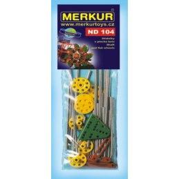 Merkur náhradní díly ND104 hřídelky a plochá kola