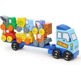 Vilac Dřevěné nákladní auto se stavebnímí stroji