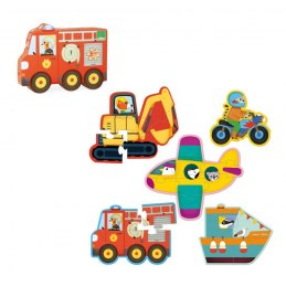 Vilac 5 dřevěných puzzlí Doprava