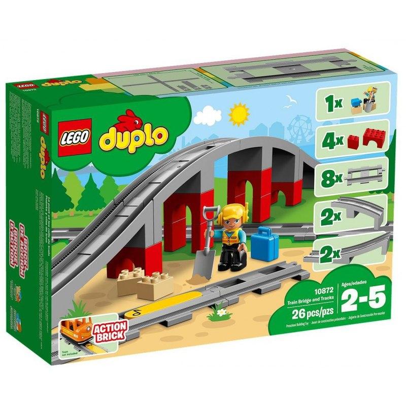 LEGO DUPLO 10872 Doplňky k vláčku – most a koleje