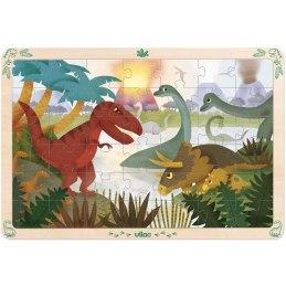 Vilac Dřevěné puzzle dinosauři, 42 dílků