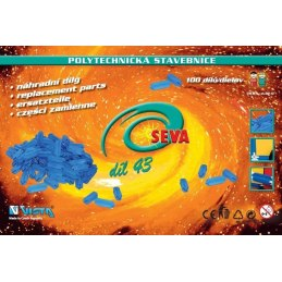 Stavebnice SEVA - díl 43 - modré