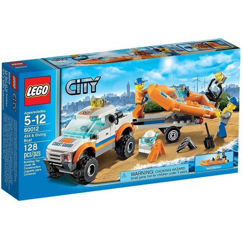 LEGO CITY 60012 - Džíp 4x4 a potápěčský člun