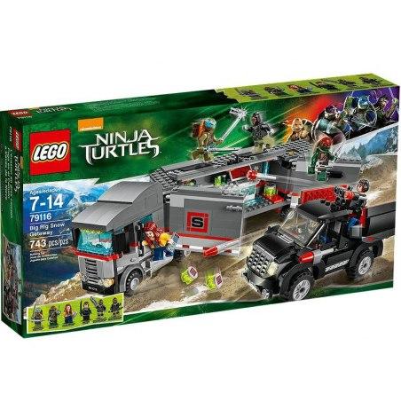LEGO Želvy Ninja 79116 - Únik velkého sněžného náklaďáku