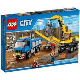 LEGO City 60075 Bagr a náklaďák