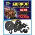 Merkur náhradní díly ND115 Ozubená kola Modul 1