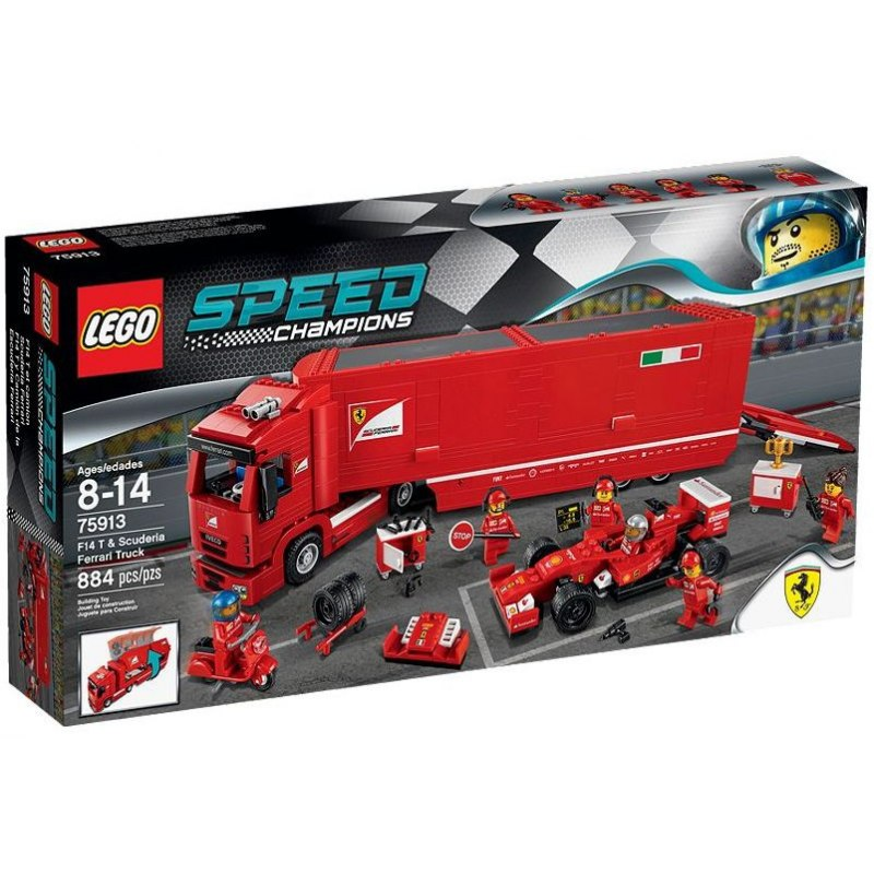 LEGO Závodní šampióni 75913 Kamión pro vůz F14 T týmu Scuderia Ferrari