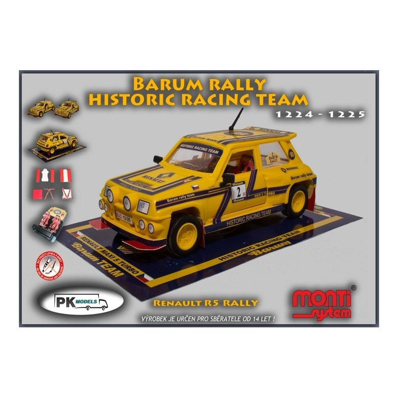 Monti MS 1224/25 Renault R5 Barum rally historic team 1:28