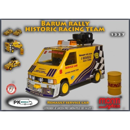 Monti System MS 1227 - Renault Barum rally Historic Racing team 1:35
