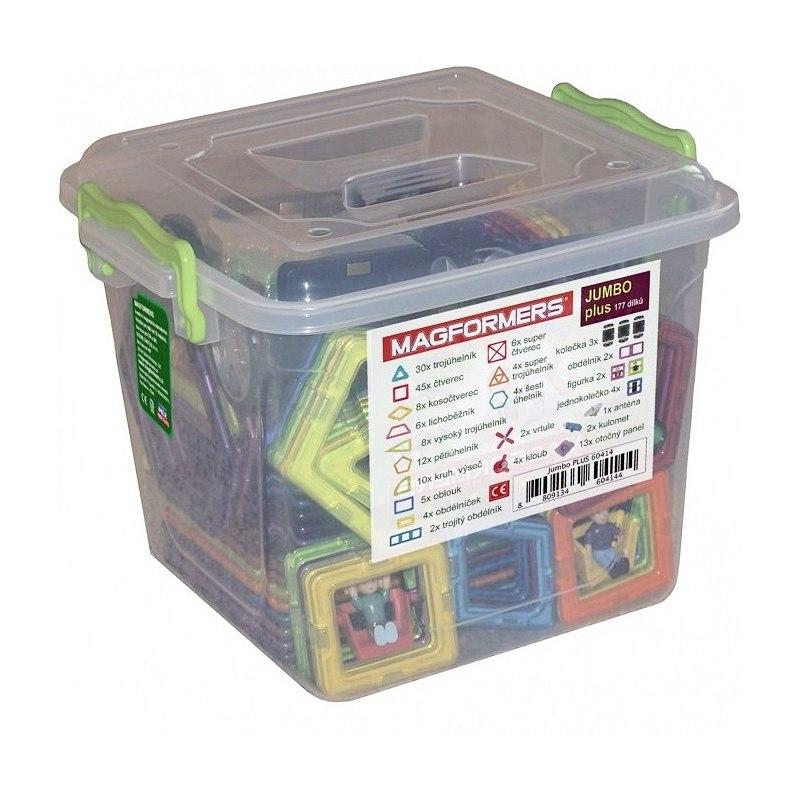Magformers - Jumbo box PLUS 177 dílků