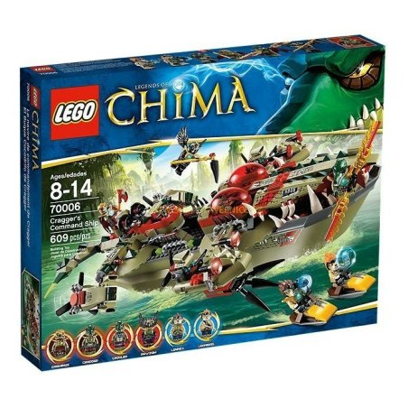 LEGO CHIMA - Craggerův krokodýlí člun 70006