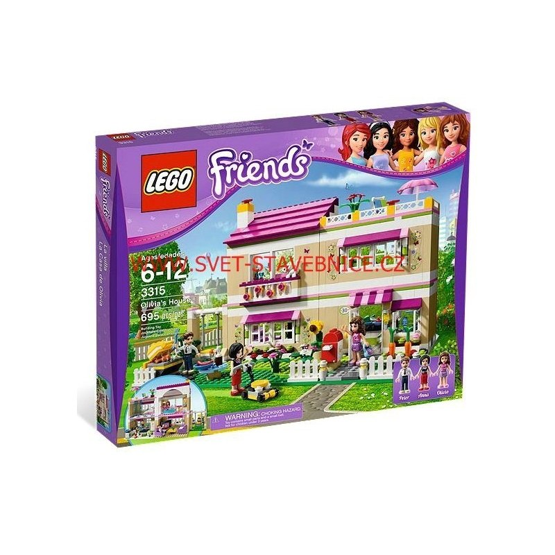 LEGO FRIENDS - Olivia a její dům 3315